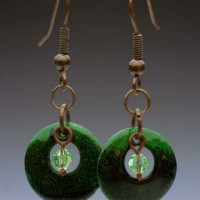 Enameled Copper Earring Set