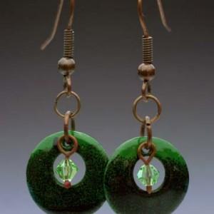 Enameled Copper Earring Set