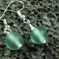 Etched Lampwork Earring Set