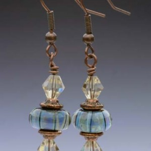 Lampwork Glass Earring Set